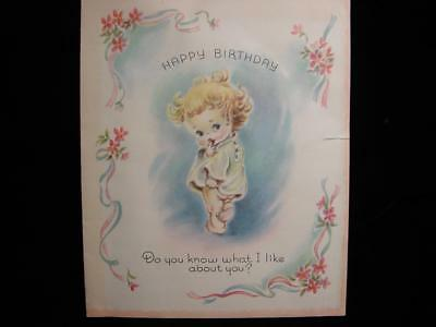 "Vintage ""do You Know What I Like About You?!!"" Birthday Greeting Card"