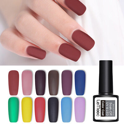 LEMOOC 8ml Matte Gel Polish Soak Off Nail Art Gel Varnish UV Gel Colors Manicure