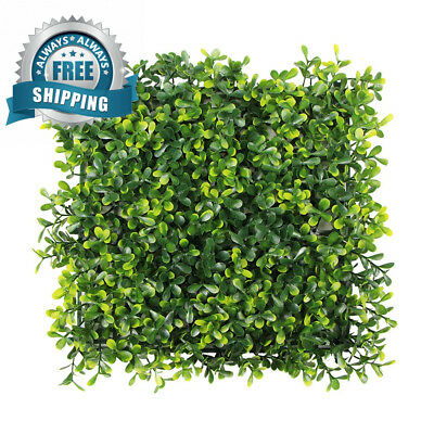 ULAND Artificial Boxwood Shrubs Panels, Foliage Greenery Plant for Home...