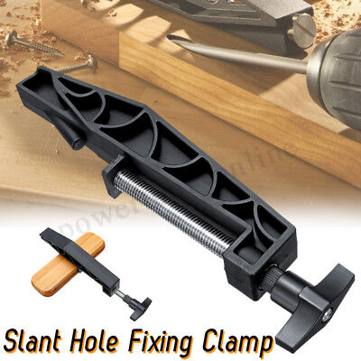 Pocket Hole Joints Fixed Clamp Slant Hole Pull Clip Woodworking Jig for Kreg UK