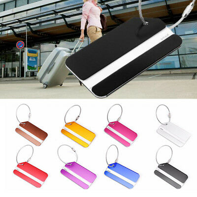 Aluminium Travel Luggage Tags ID Bag Baggage Tag Suitcase Label For Name Address