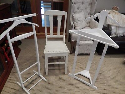 Valet clothing stand x 2 and 1 vintage chair all Shabby Chic
