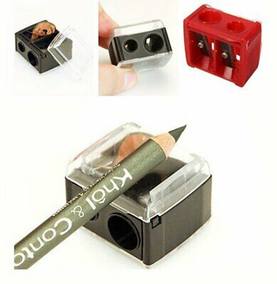Precision Cosmetic Pencil Sharpener For Eyebrow Lip Liner Eyeliner 2 Holes IK
