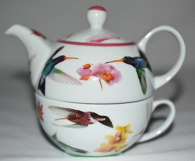 Paul Cardew Hummingbird Single Serve Tea/Coffee Pot with Cup