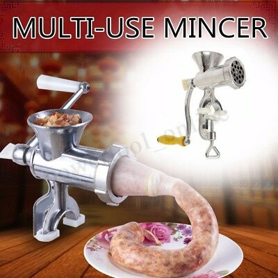 Multi-use Manual Sausage Maker Meat Mincer & Grinder Hand Operated Kitchen
