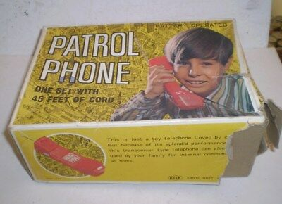 Vintage Battery operated Childs Patrol Phone  -  Circa 1970's orig box
