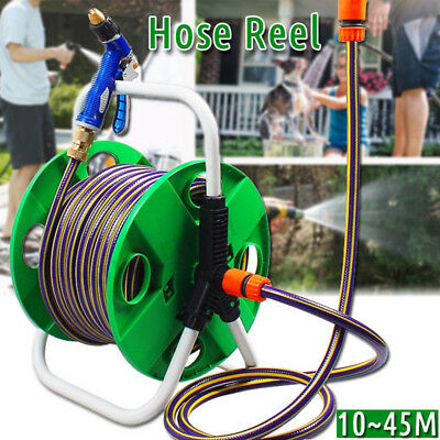 Portable Garden Hose Reel Outdoor Gardening Holder Water Planting Aluminum