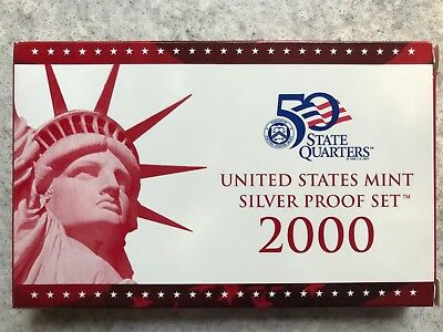 2000 US Mint Silver Proof Set with Box and COA