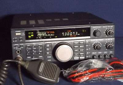 AN EXCELLENT KENWOOD TS-450SAT With Mic And New Fused DC Power Cord     Restored