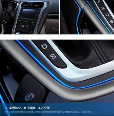 AUTO ACCESSORIES CAR Universal Interior Decorative Blue Line CHROME Shiny