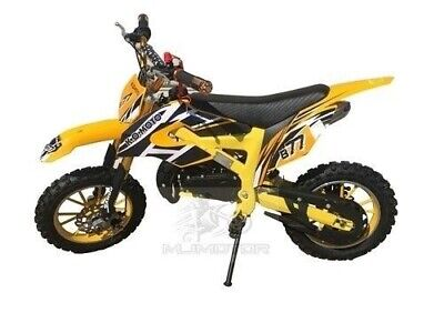 49Cc Mini Motor Dirt Bike Kids Pocket Rocket Pee Wee Motorcycle Atv 50Cc Yellow
