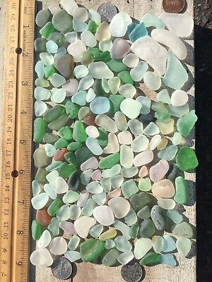 """165 """"Craft Grade"""" Genuine Surf Tumbled Seaglass Pieces, Many Colors & Sizes"""