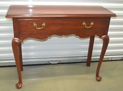 Henkel Harris Cherry Console Table Accent Table Queen Anne 1 Drawer