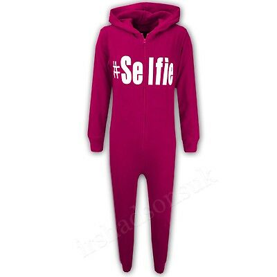 Kids Boys #Selfie Pink A2Z Onesie One Piece Summer Jumpsuit PJ's 5-13 Years