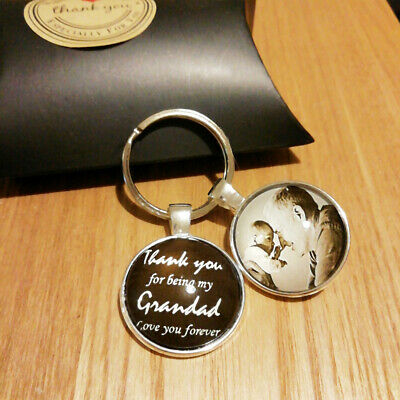 Personalised Thank You Photo Glass Keyring Mothers Day Gifts Mum Best Friend Dad