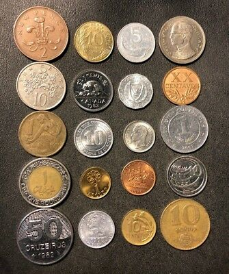 Coins of the World Lot - 20 Different Nations - FREE SHIP - Lot #D8