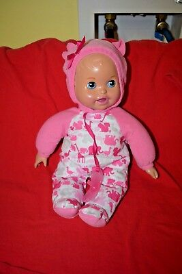 2011 Mattel Beanie Bottom Doll With Pacifier That Lights Up...she Talks
