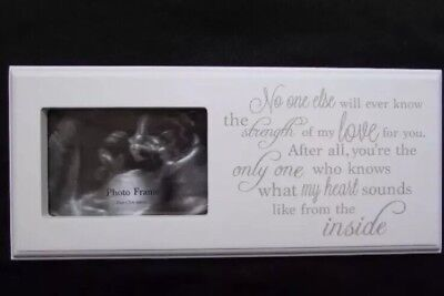 Baby Scan Picture Photo Frame - Wooden Quality Gift Present Baby Shower Plaque