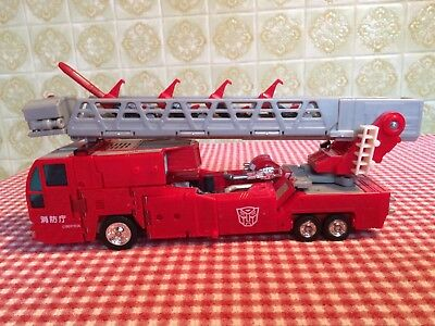 Transformers RID Optimus Prime Fire Truck Robots In Disguise