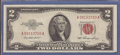 1953 $2 United States Note (USN),Red Seal Note,Choice Crisp AU,Nice!