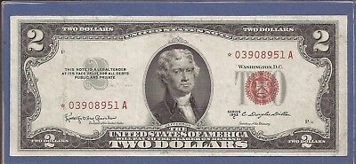 1953 C $2 United States Note (USN),*Rare* Star Red Seal Note,circulated VF,Nice!