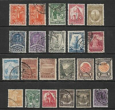 MEXICO 1934 Pres Cardenas definitives, 1937 smaller stamps, mostly used