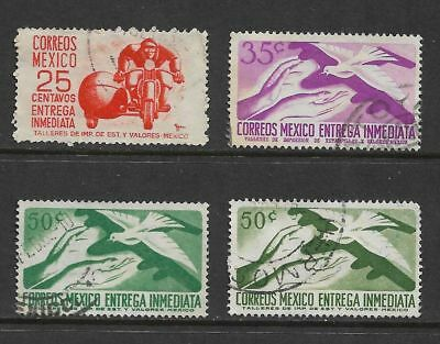 MEXICO 1950 & 1956 Express Letter stamps, Entrega Immediata, used