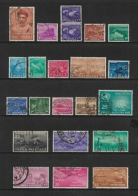 INDIA mixed collection No.42, 1953-1956, used