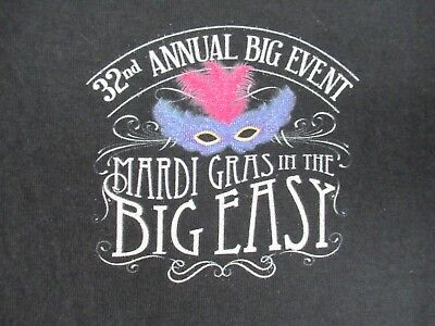 Mardi Gras In The Big Easy - 32Nd Annual Event - Small Black T-Shirt - V1038