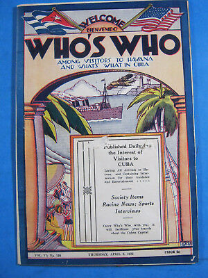 1936 Who's Who Among Visitors Havana and What's What in Cuba ORIENTAL PARK