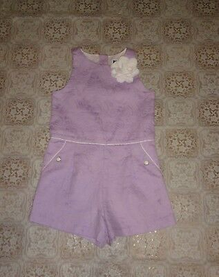 Janie and Jack Purple Jacquard Print Sleeveless Jumpsuit/Romper 1-PIECE Size 4T