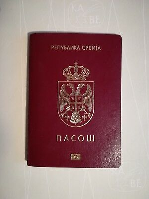 Passport SERBIA Biometric Full of Inks Cancelled