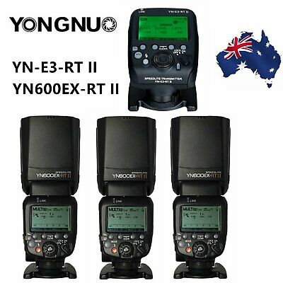 Yongnuo YN600EX-RT II TTL Speedlite Flash +YN-E3-RT II Transmitter for Canon EOS