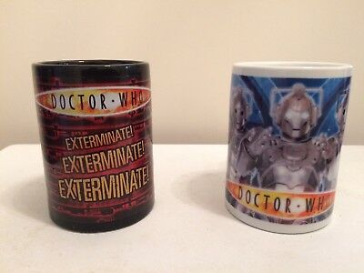 DOCTOR WHO - Dalek Exterminate Coffee Mug And Cyberman Mug!!