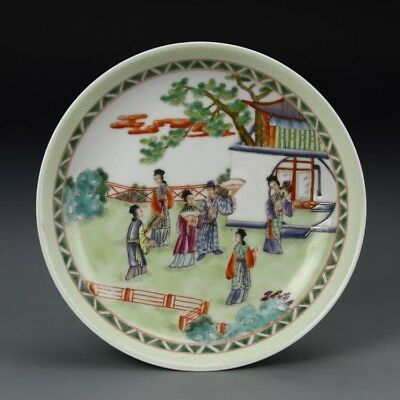 Outstanding Chinese  Famille Rose Porcelain Plate -YONGZHENG Period(1723-1735)