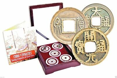 China 5 Dynasties:Twenty Centuries of Cash Coins  Beautifully Boxed,with Story
