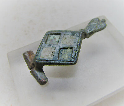 Roman Military Bronze Brooch With Enamel. Authentic Legionary Artefact