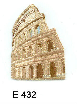 1 Pc Roman Gladiator Colosseum Iron On Embroidered Applique Patches Us Seller
