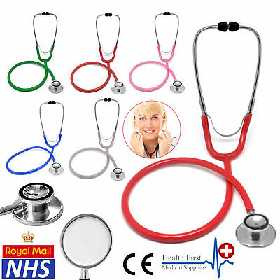 NHS Double Dual Head Doctor Nurse Clinical Stethoscope Paediatric Bell Sound NEW
