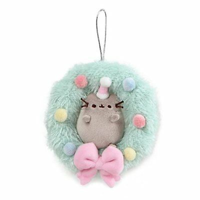 Gund Pusheen NEW * 4.5 Inch Wreath Ornament * Christmas Plush Cat Toy Kitten