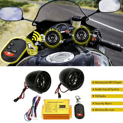 1ED6 12V Motorcycle MP3 Speaker Motorcycle Audio Waterproof with Remote Control