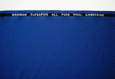 "All Pure Wool Gaberdine Rainbow Superfine Fabric 1.75 Yd X 58"" + 12"" X 58"" Scrap"