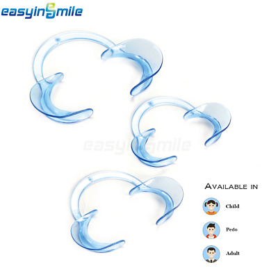 2X EASYINSMILE C-Shape Dental Mouth Opener Cheek Lip Retractor Autoclavable 135℃