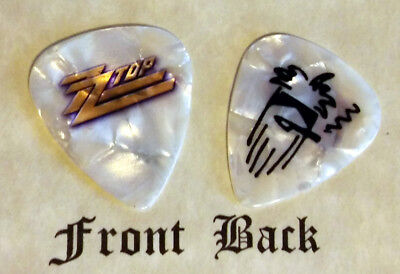 ZZ TOP - BILLY GIBBONS band logo signature guitar pick  -W