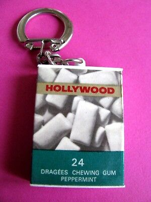 Ancien porte cle Publicitaire Paquets 24 Chewing gum HOLYWOOD PEPPERMINT