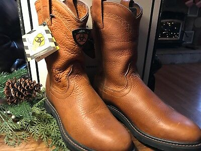 47e53c21237 NEW ARIAT SIERRA WATERPROOF WORKBOOT BOOTS 37280 mens,brown,sz 8.5D