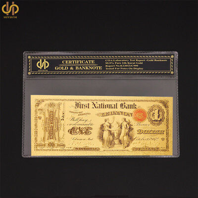 1875 USA Collectible Color Gold Banknote $1 Bank Note Gold Currency Bill Note