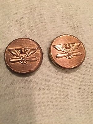 Vintage Wwii Buttons Propeller With Eagle Wings