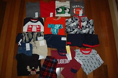 NWT Boys 3T HUGE 18 Piece FALL WINTER Lot GYMBOREE CARTERS JUMPING BEANS CRAZY 8