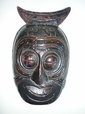 Antique Nepal or Asia Tribal Wooden Mask